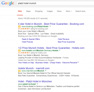 Brand name PPC for hotels