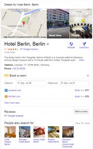 Hotel using Google Hotel Ads