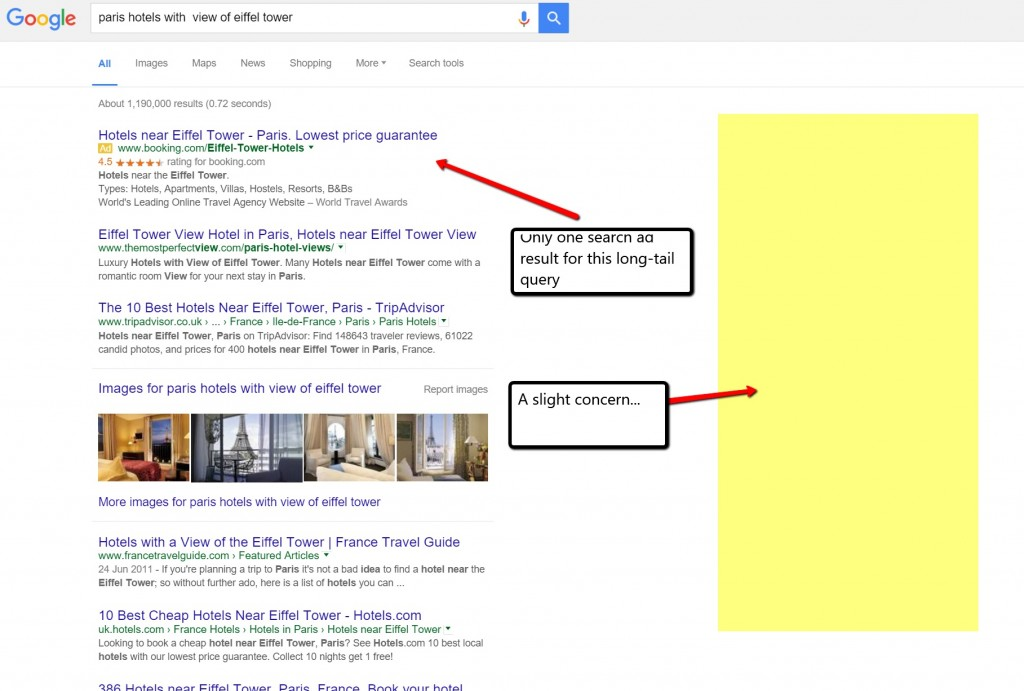Right side adverts removed by Google